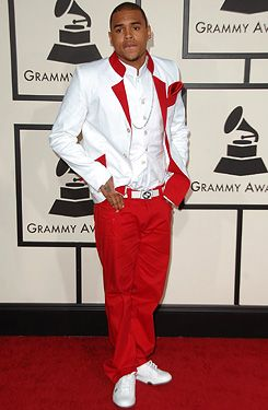 red denim jeans for chris brown