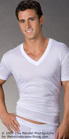C-in2 Male Underwear Models V-Neck Shirt