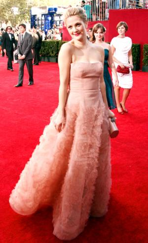 drew barrymore fashion style gown by monique lhuillier