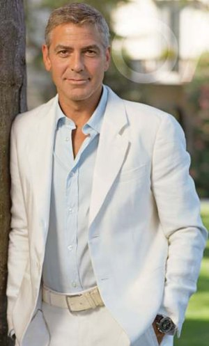 white suits for men celebrity fashion george clooney