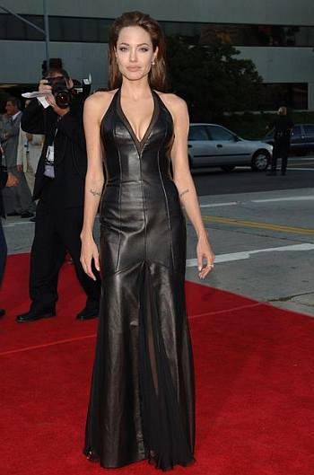 hot leather dress - angelina jolie collection - mr and mrs smith