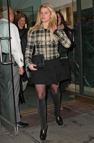 jessica simpson style watch miniskirt