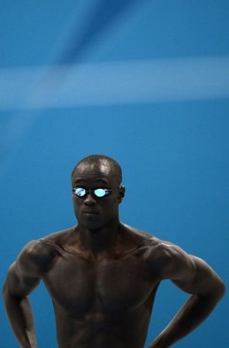 malick fall - black olympic swimmer from senegal
