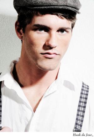 male model newsboy hat - michael brent