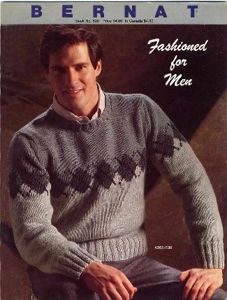 scott brown - sweater for men - 1984 bernat catalog