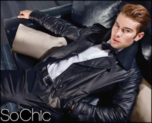 sexy leather jacket for men