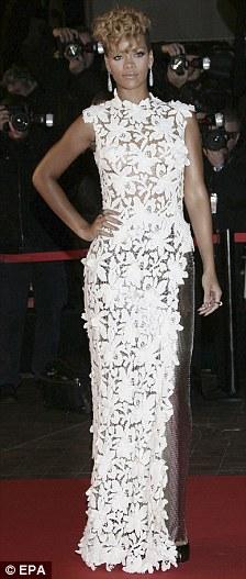 Celebrity White Dress rihanna