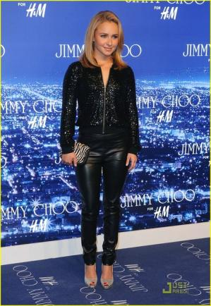 hayden panettiere style jimmy choo hm leather pants