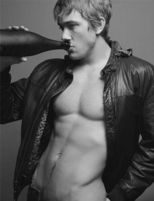 steve sandvoss shirtless leather jacket