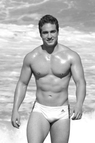 adidas speedo swim briefs - male model
