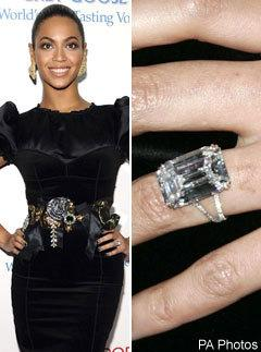 celebrity engagement ring beyonce