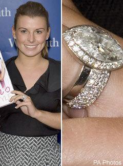 celebrity engagement ring coleen rooney