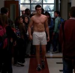 cory monteith underwear white boxer shorts
