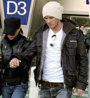 david beckham superdry leather jacket with victoria