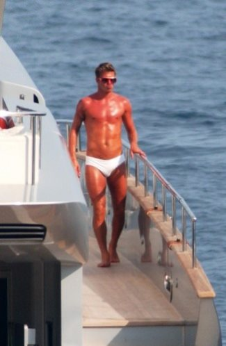 david beckham white speedo swimsuit