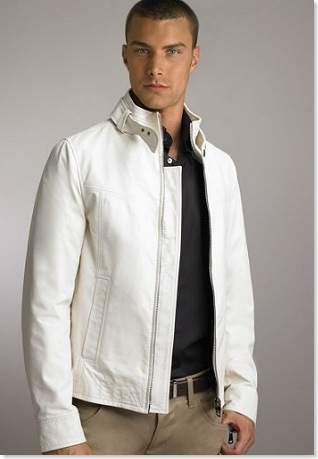 white leather jacket for men