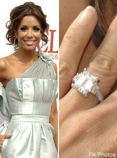 celebrity engagement rings eva longoria