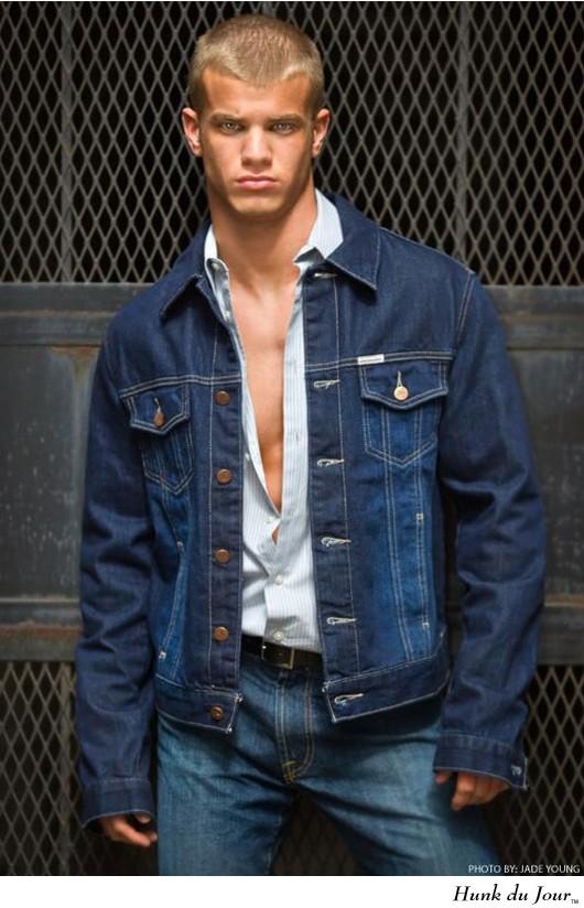 Mens Denim Jackets model