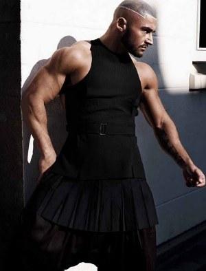 men in short skirts francois in a dress