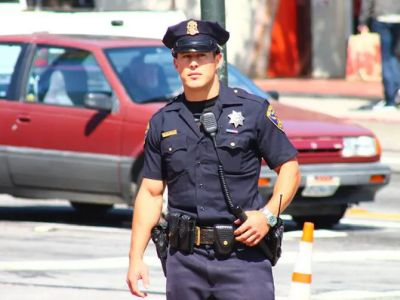 hot guys in police uniform Christopher Kohrs