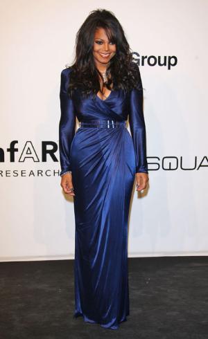 celebrities wearing wrap around dresses versace janet jackson