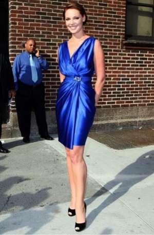 celebrities wearing wrap around dresses reem acra