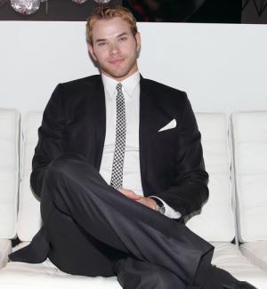black suit white shirt - kellan lutz fashion
