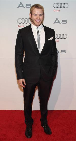 black suit white shirt red carpet fashion - kellan lutz