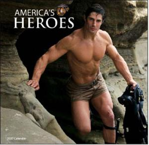 hot real marine guys in uniform models charity calendar