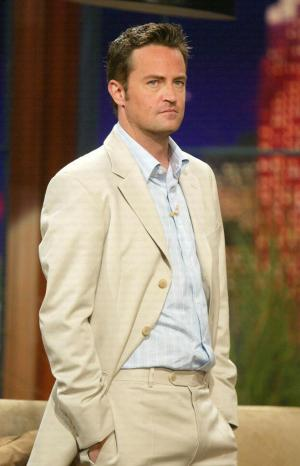 matthew perry style - white suit