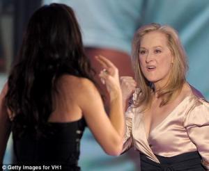 meryl streep sandra bullock kiss at critics choice