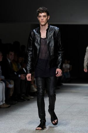 mens leather pants neil barrett collection