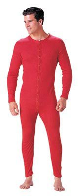 red long johns thermal underwear