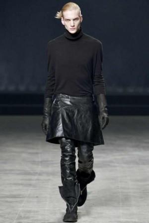 rick owens leather kilt