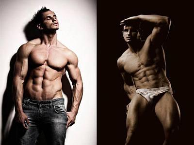 romanian male models - enea cristian underwear