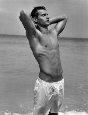 vladimir ivanov model in beach shorts