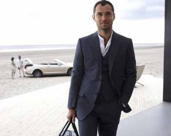 jude law suit and shirt by dunhill