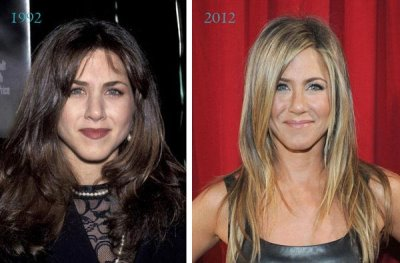 actress plastic surgery list - aniston before and after