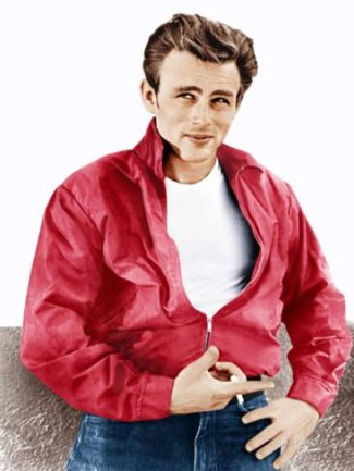 james dean blue jeans white shirt