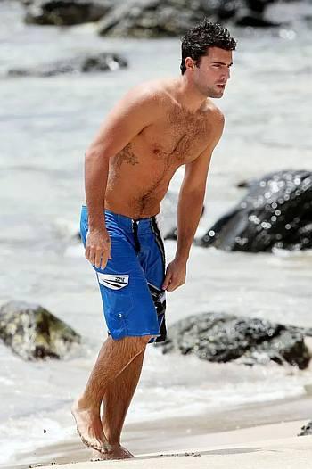 broddy jenner beach hunk in shorts