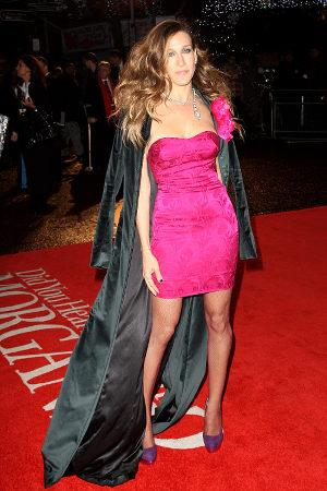 celebrities in pink dresses - sarah jessica parker