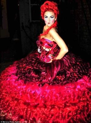 gypsy wedding dress red number for lady gaga