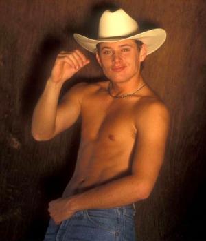 jensen ackles shirtless cowboy