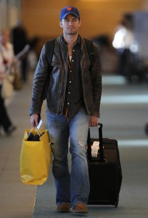 jeans and leather jacket matthew morrison true religion