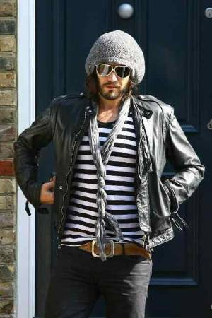 celebrity bomber jacket russell brand dsquared2