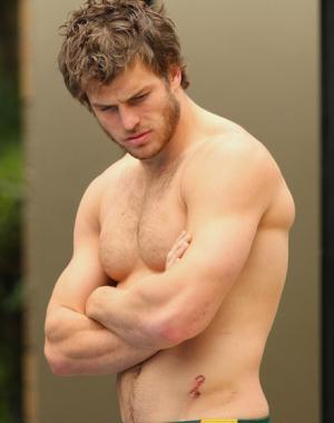 David Williams shirtless