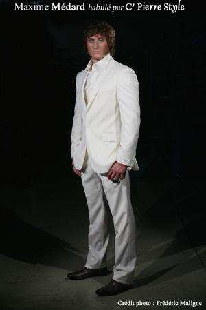 maxime medard fashion - white suit