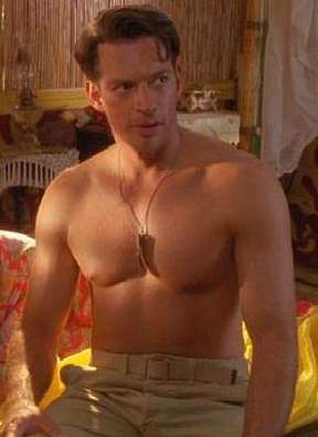 Young Harry Connick Jr shirtless