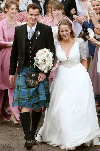 andy murray wedding in kilt - kim sears