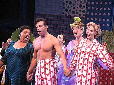 harry connick jr shirtless in pajama game - 2006